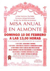 cartel misa anual hdad rocio