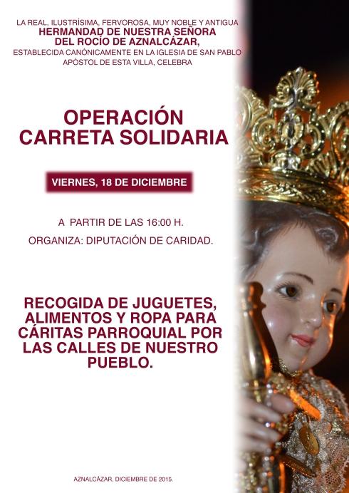 CARTEL CARRETA SOLIDARIA