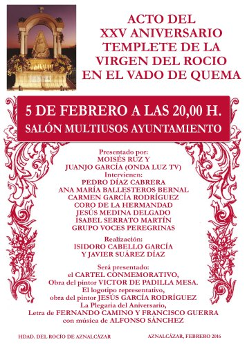 CARTEL ACTOS 25 ANIVERSARIO TEMPLETE